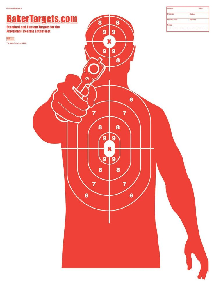 "Amazon.com : Silhouette Target Pack - 23"" x 35"" : Sports & Outdoors"