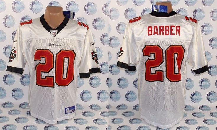 BNWT TAMPA BAY BUCCANEERS #20 BARBER AMERICAN FOOTBALL SHIRT JERSEY REEBOK NFL  #Reebok #TampaBayBuccaneers