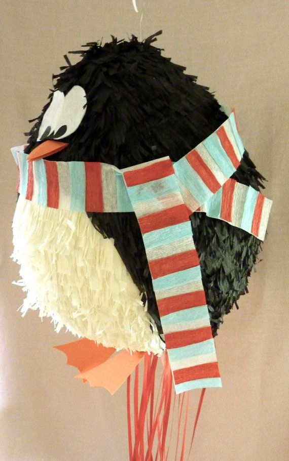 Pinata Penguin with scarf by DalePinatas on Etsy, $45.00 - Go Wendy!! (My former neighbor) Love it!