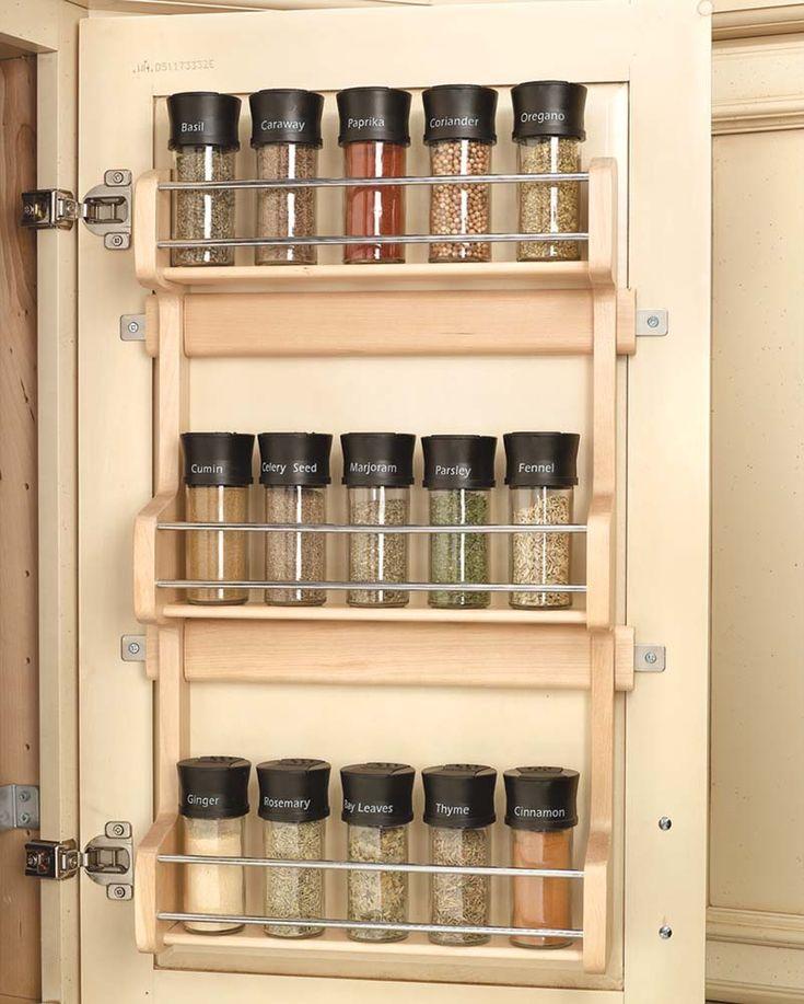 Finding Hidden Storage In Your Kitchen Pantry: Best 25+ Spice Rack Organization Ideas On Pinterest