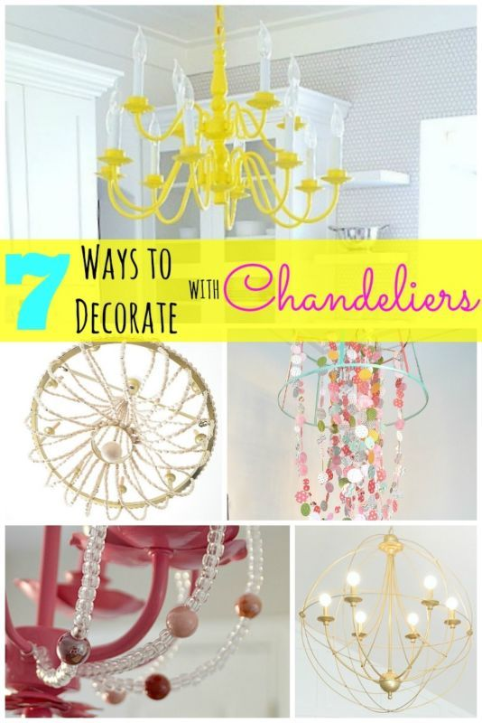 7 Ways to Decorate with Chandeliers! So many great ideas from Tatertots and Jello (spon)