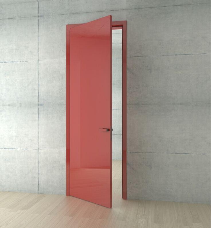 interierove dvere HANAK na mieru, cerveny lak