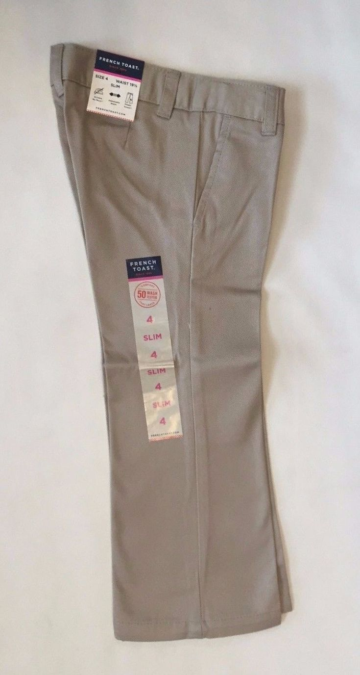 NEW FRENCH TOAST School Uniforms Girls Pants Khaki Size 4566X810 Slim