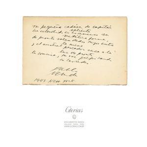 Dedicatórias de Pablo Neruda (1943) e Arthur Rubinstein (1937)