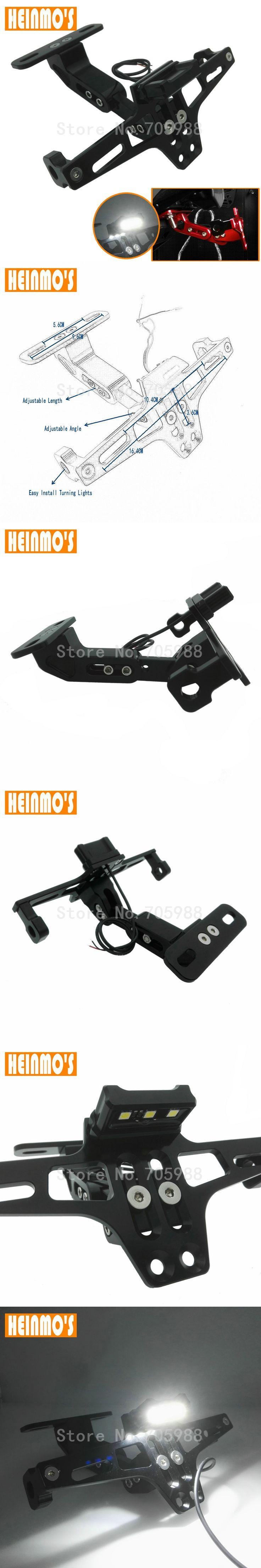 Universal Motorcycle Parts motorbike Adjustable Angle Aluminum License Number Plate Frame Holder Bracket For Honda Yamaha