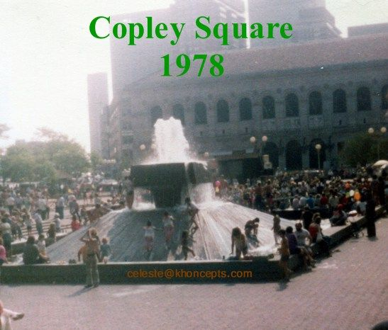I'm scanning old photos to digital format and found this one of a water fountain in Copley Square, Boston MA. #Boston Does anyone remember this??