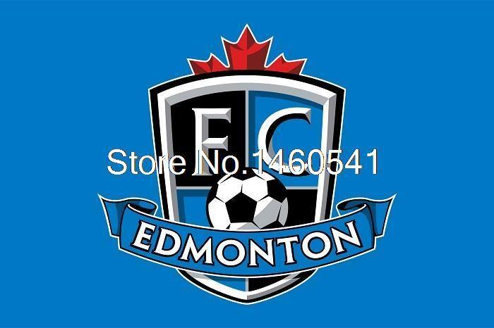 ФК Эдмонтон Флаг 3ft x 5ft Полиэстер Северной Американский Футбол NASL 2011 Лиги Баннер 144*96 см QingQing Флаг