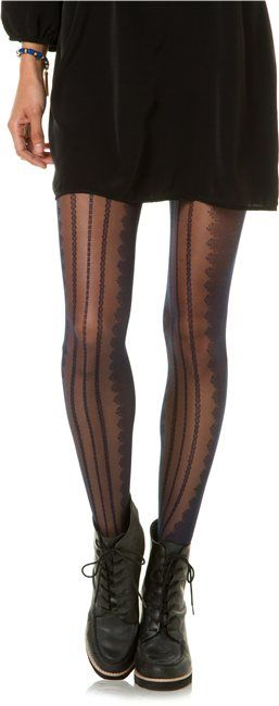 Navy patterned tights.. http://www.swell.com/Socks/SWELL-LINEAR-STRIPE-FOOTED-TIGHTS?cs=NV