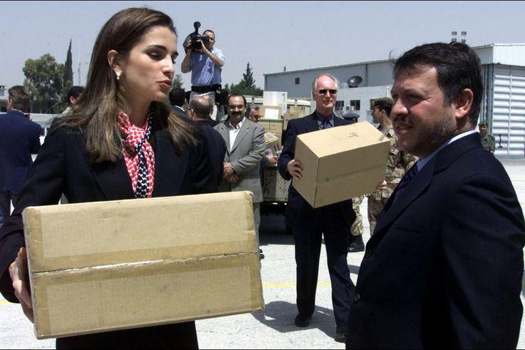 Transport de matériel médical pour les Palestiniens en 2002