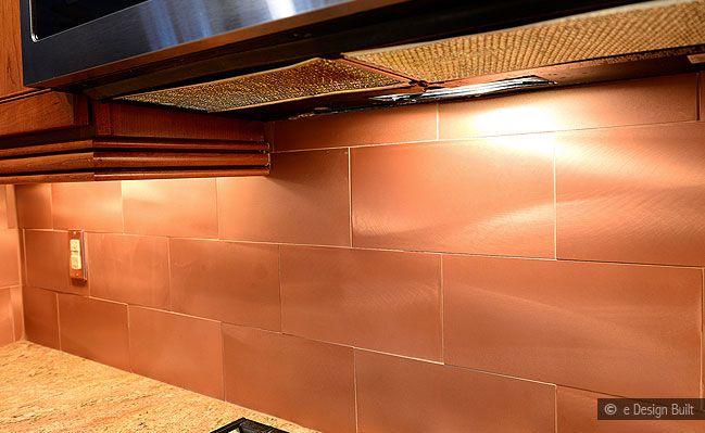 Copper Backsplash Tiles For Kitchen