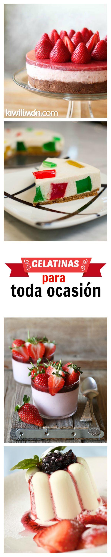 Estas son nuestras mejores recetas de gelatinas que tenemos, ¡Las hay de todo…