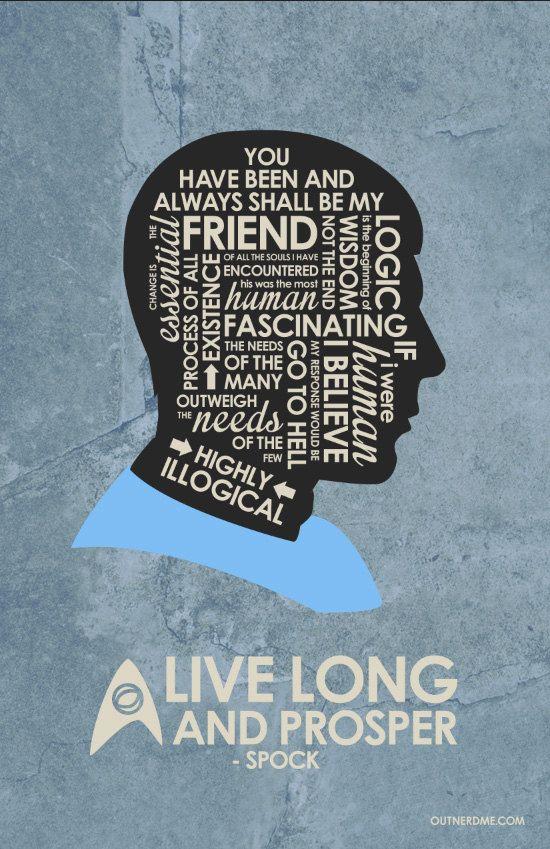 Star Trek: live long and prosper - Mr. Spock