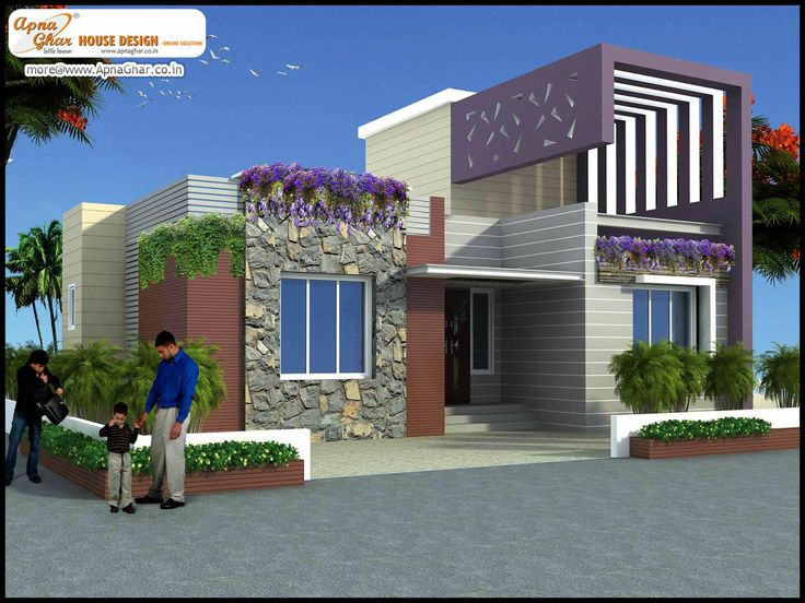Simplex Front Elevation : Bedroom modern simplex floor house design area