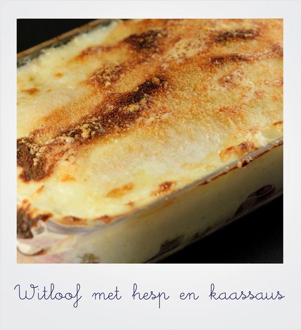 kotrecepten: Recept witloof met kaas en hesp