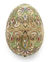 Stunning Jeweled Faberge Egg. Covered in Gold and Diamonds, Sapphires, Rubies Pearls. Priceless