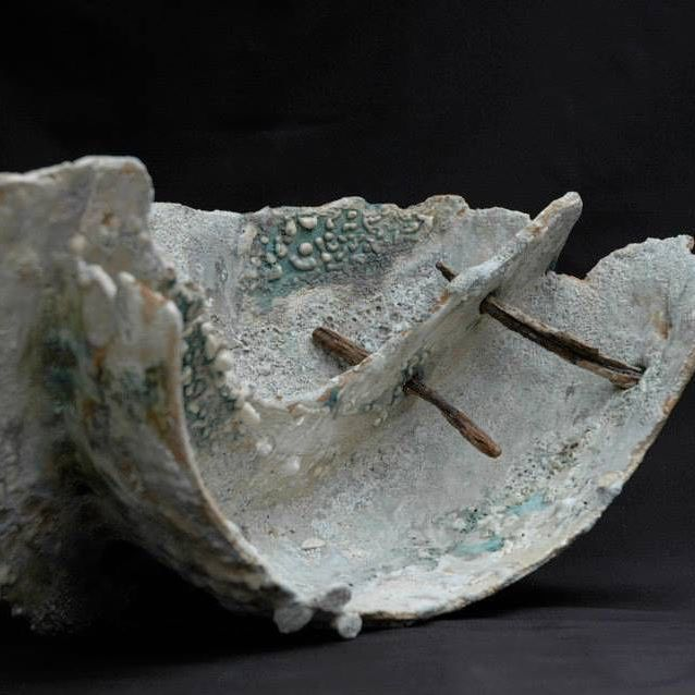 This piece is an old piece inspired by a #boat #wreck along the #Cornish #coast The #rusty #nails are from the #ship#yacht. This piece has a mixture of #slips and #glazes and is #fired a couple of times to help build up the #texture #weathered look . #stoneware #ceramics #clay #ceramicsculpture #ceramicart #ceramica #keramik #contemporaryart #contemporaryceramics #handbuilt #handmade #interior #interiordesign #clayart#slabbuiltceramics #slabbuiltpottery