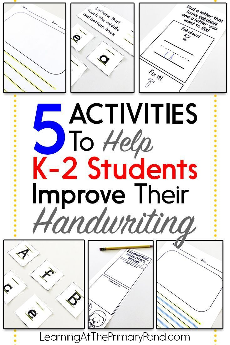 5 Activities To Help K 2 Students Improve Their Handwriting Learning At The Primary Pond Handwriting Activities Spelling And Handwriting Improve Handwriting Fun handwriting activities for grade