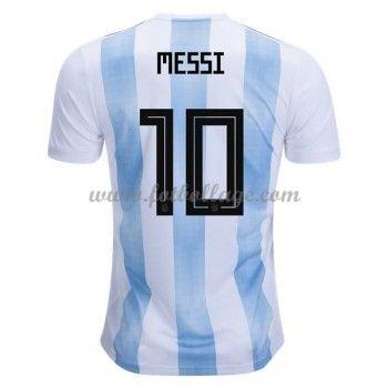 Billiga Fotbollströjor Argentina VM 2018 Lionel Messi 10 Hemmatröja