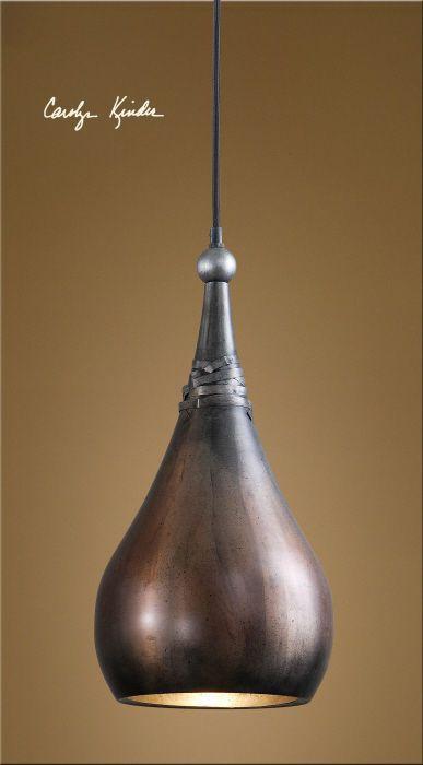 Rustic Tuscan Industrial Kitchen Copper Mini Pendant Light Chandelier Fixture