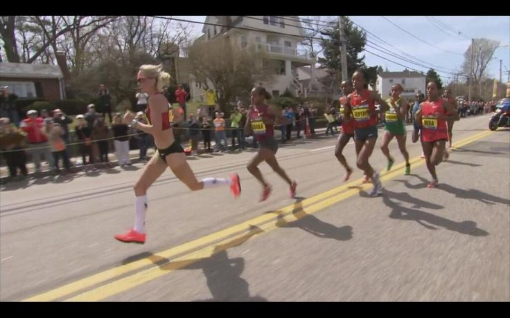 """Twitter / """"PetesWire: PHOTO: The pack of elite women, including Marblehead's @Shalane Flanagan. #wbz #BostonMarathon""""  #BostonMarathon 4/21/14  #BostonStrong"""