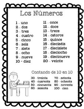 104 best los numeros images on pinterest spanish classroom spanish numbers and assessment. Black Bedroom Furniture Sets. Home Design Ideas