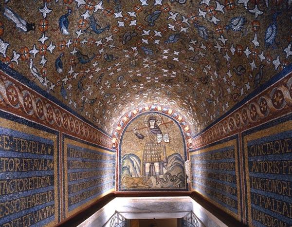 Ravenna, Italy, mosaics of the Chapel of Sant' Andrea