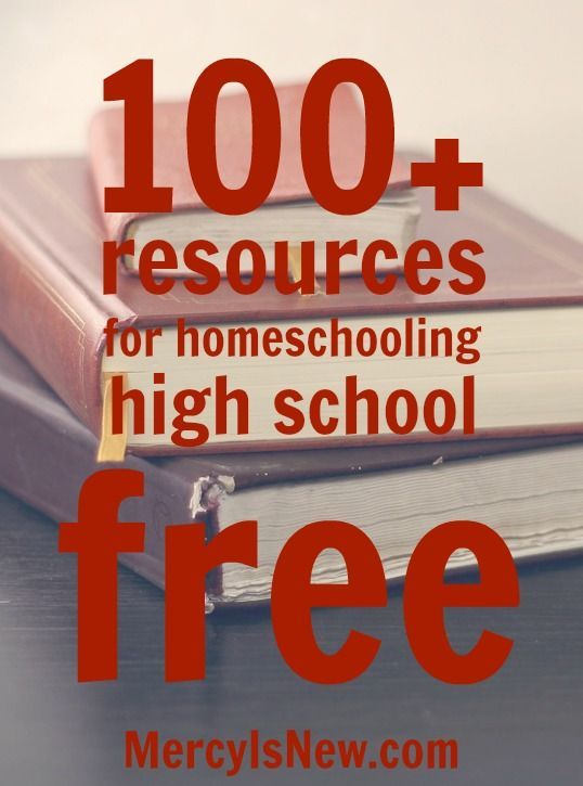 WHAT A GREAT RESOURCE!!!! YOU NEED TO PIN THIS!!!  Free Resources for Homeschooling High School