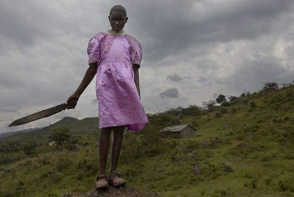 Girl with panga