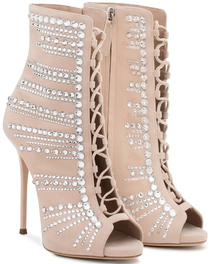 Giuseppe Zanotti Rose gold patent leather sandal with crystals ADALIE xIhzoSTL8