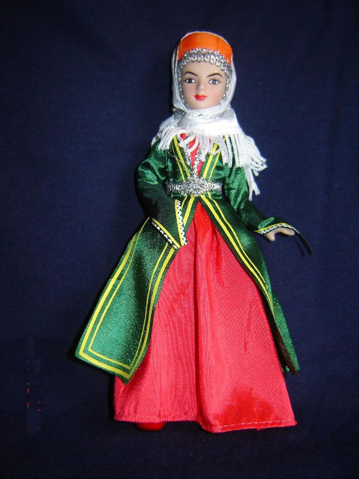 Details about Porcelain doll in cloth national costume