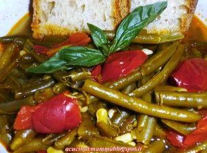 Fasulille cu a pummarola (fagiolini verdi e pomodoro )