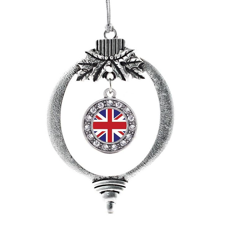 UK Flag Circle Charm Holiday Ornament