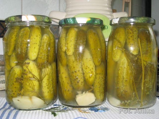 Domowa kuchnia Aniki: Ogórki kiszone na zimę