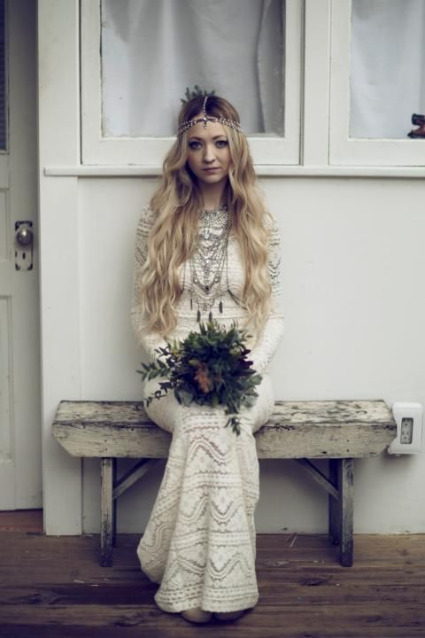 Bohemian Bride / Brice & Leah's Real Wedding 'Bona Fide Bohemian' featured on The LANE. (instagram: the_lane)