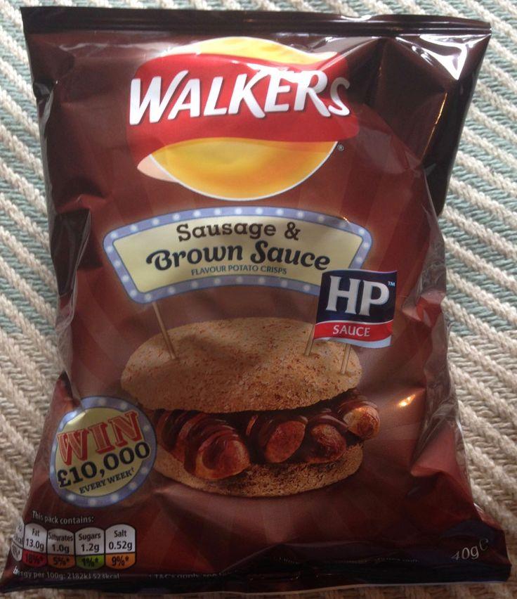 FOODSTUFF FINDS: Sausage & Brown Sauce Crisps (Boots) New Walkers Crisps - Snacks Chips