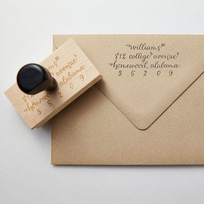 Calligraphy Return Address Stamp - Christmas Gifts for Her - Southern Living