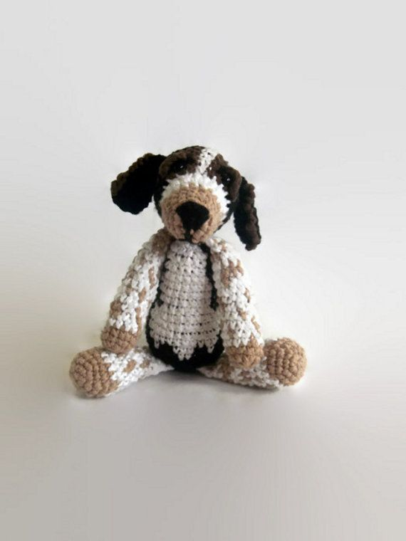 beagle dog crochet doll OOAK rag doll by AWickedStitchery on Etsy