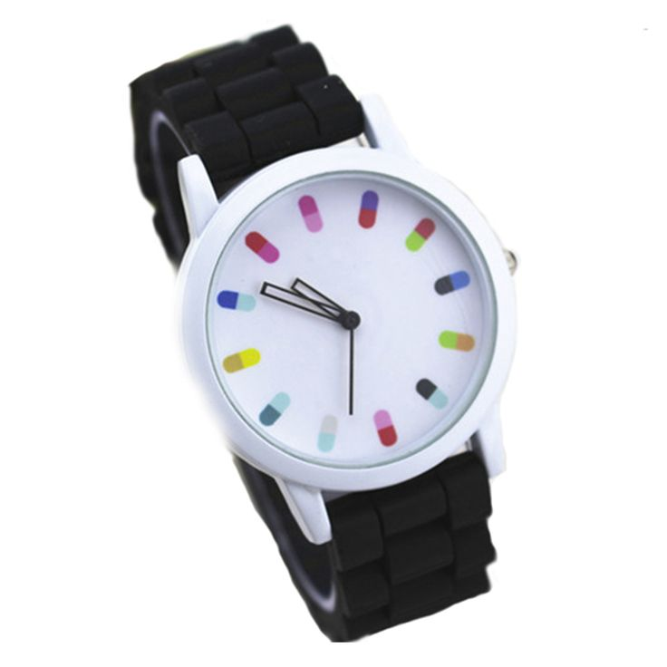 Reloj Colores Negro http://www.tuttematute.cl/reloj-colores-negro