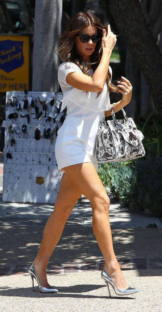 Kate Beckinsale White Romper Outfit | POPSUGAR Fashion
