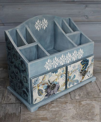 """Mini chest of drawers / Мини-комодик """"Синяя фантазия"""" — работа дня на Ярмарке…"""