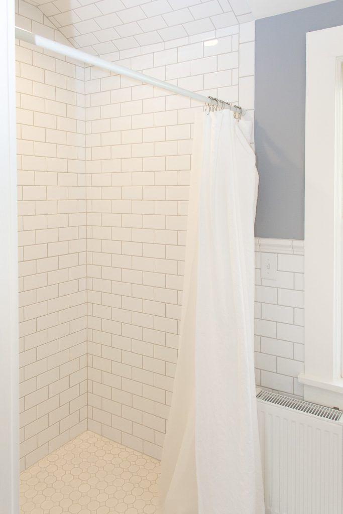 Glossy White Tile Shower With Glossy White Pattern Tile Flooring White Tile Shower Shower Tile Patterned Floor Tiles