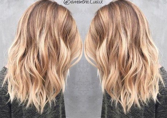 Medium Length Blonde Balayage - Samantha Cusick