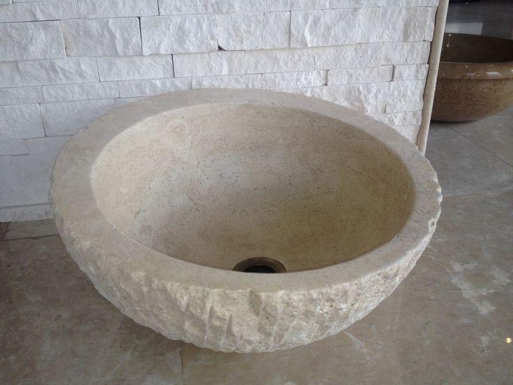 Rize Beige marble sink (DLT749)