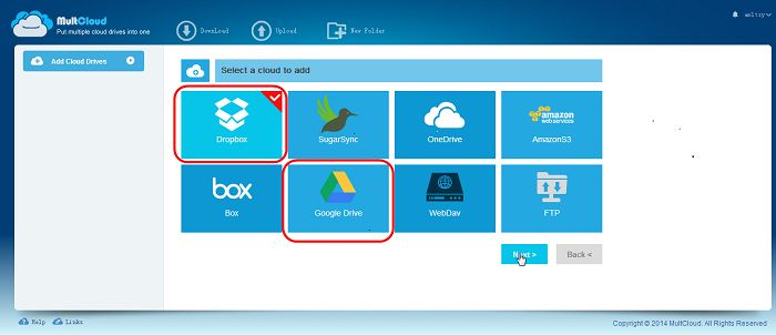 add cloud drive