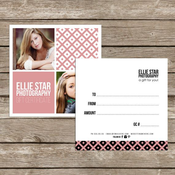 11 best Print Design images on Pinterest Gift cards, Certificate - best of photographer gift certificate template