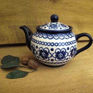 陶器の青がすき ドイツkannegieber(カンネギーサー)社ティーポット-ブルーフラワー