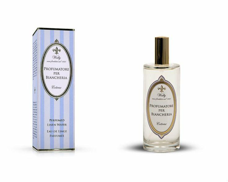 Profumatore per Biancheria, nella confezione spray, indicato per tutti i capi in Cotone.  www.wallycosmetici.com