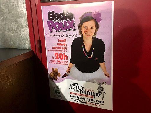 """""""Le Syndrome du Playmobil"""", le one-woman show d'Elodie Poux : http://www.menagere-trentenaire.fr/2016/10/11/elodie-poux-le-syndrome-du-playmobil"""