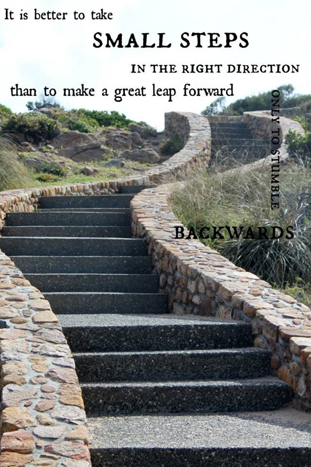 Taking Steps: Taking Baby Steps Quote