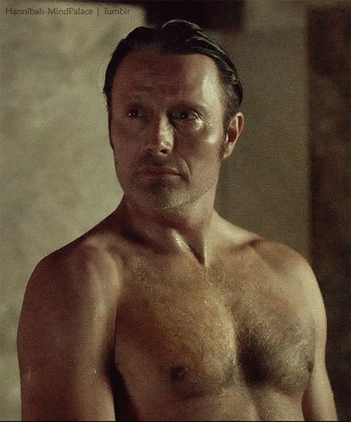 Sometimes no plaids are required.  Mads Mikkelsen, Hannibal, Season 3; Episode 1. (P.S. thank you, Bryan Fuller)